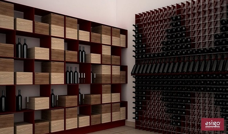 Esigo 2 Net metallic steel wine rack