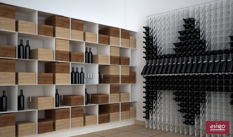 Esigo 2 Net metallic wine rack