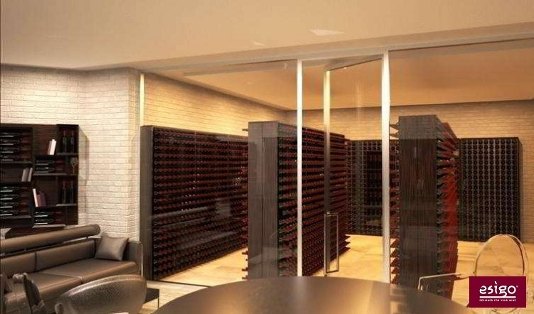 Esigo 2 Wall wine storage cabinet