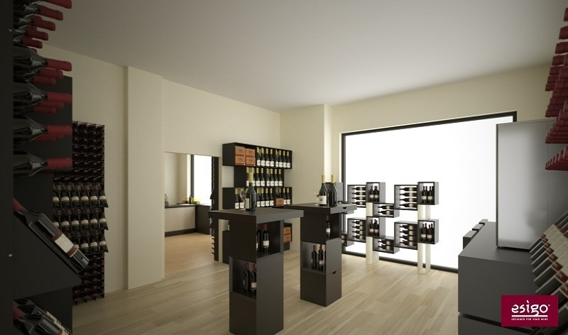 Esigo 5 Floor contemporary wine rack