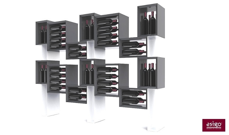 Esigo 5 Floor wooden wine rack cabinet