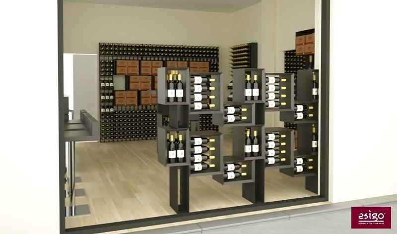 Esigo 5 Floor wooden wine storage rack