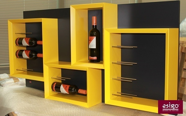 Esigo 5 Modern Wall Mounted Wine Rack