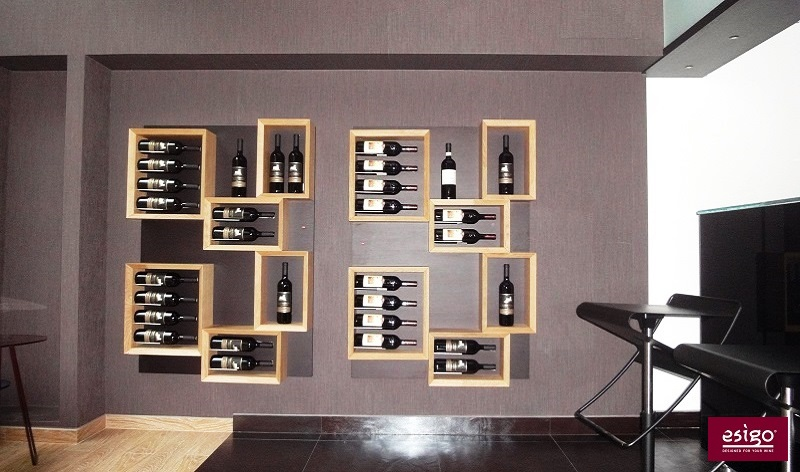 Esigo 5 wooden wine rack
