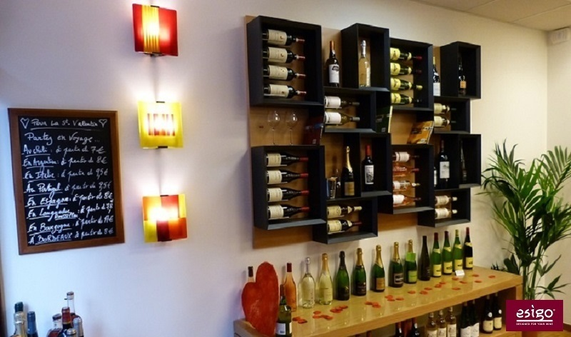 Esigo 5 wall wine rack