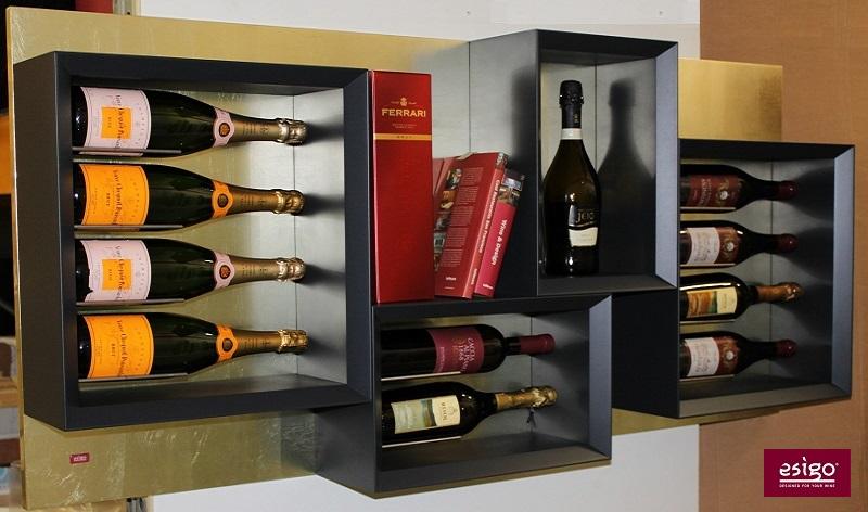 Gallery esigo 5 botellero de madera para pared - Botelleros de pared ...