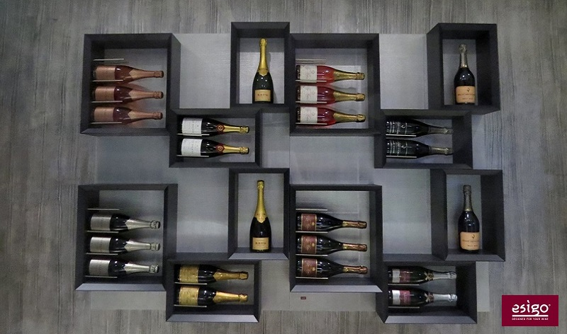Esigo 5 by Sanpatrignano modern design wine rack