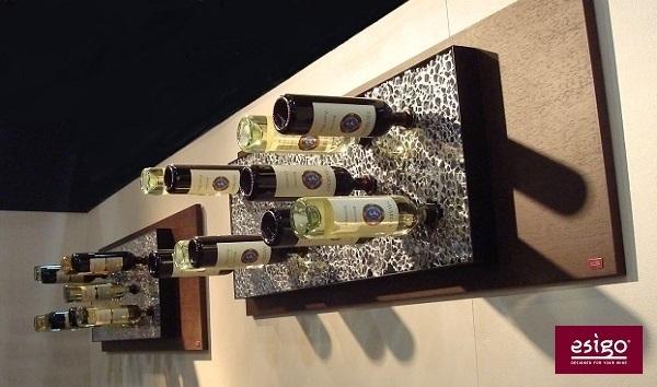 Gallery esigo 6 range bouteilles mural - Porte bouteille mural design ...