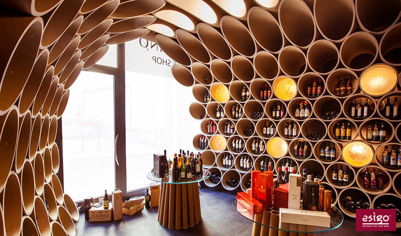 Esigo 8 eco-friendly special design wine rack