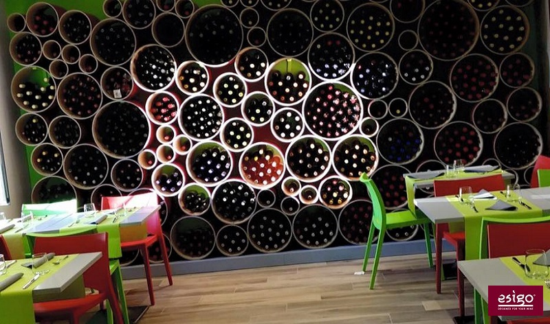 Esigo 8 eco-friendly design wine rack