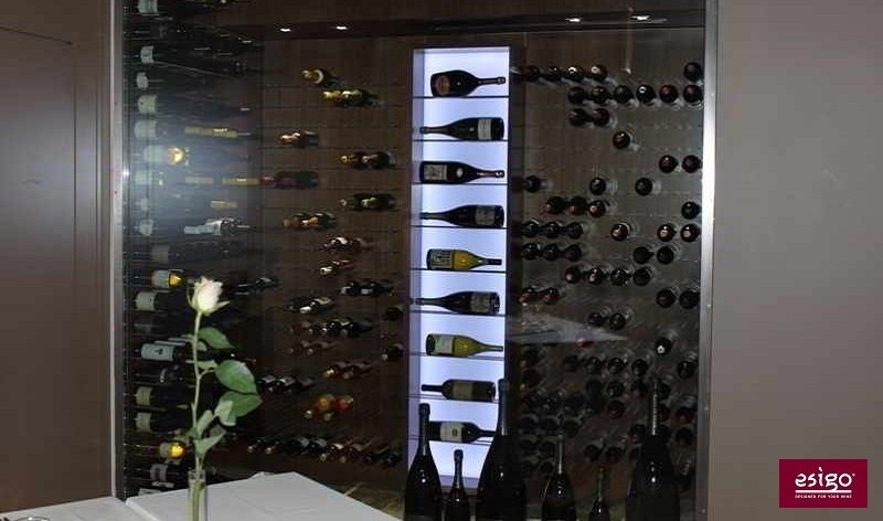 Botelleros esigo para cava climatizada restaurante - Botelleros de madera para vino ...