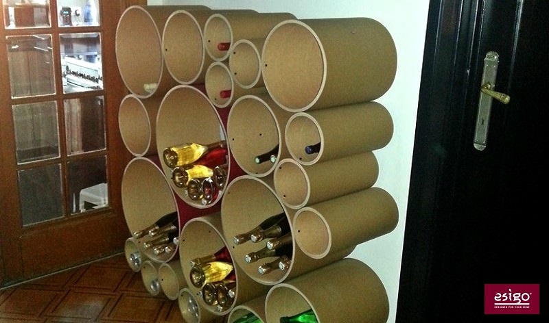Esigo 8 eco-friendly wine rack