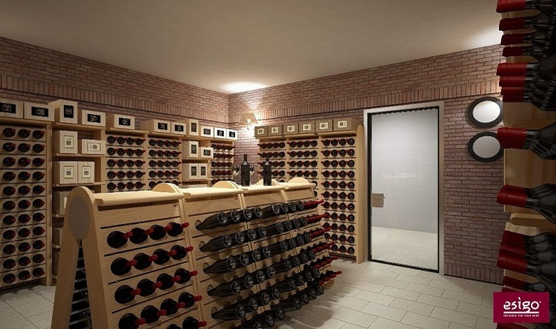 Classic wine cellar furniture