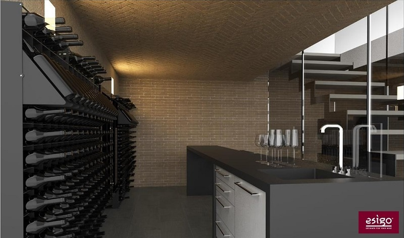 Esigo custom wine cellar furniture