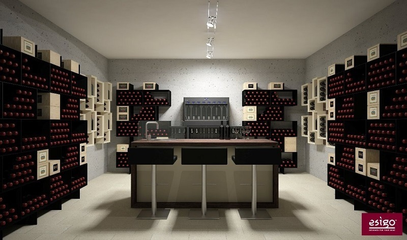 Esigo wine cellar furniture - Box version