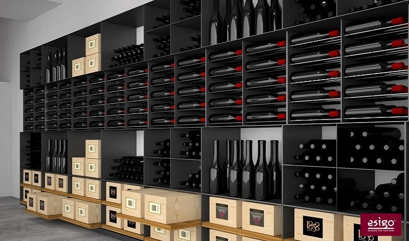 Esigo 2 Box steel wine rack