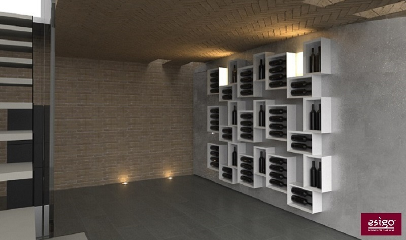 Wine cellar furniture design Esigo
