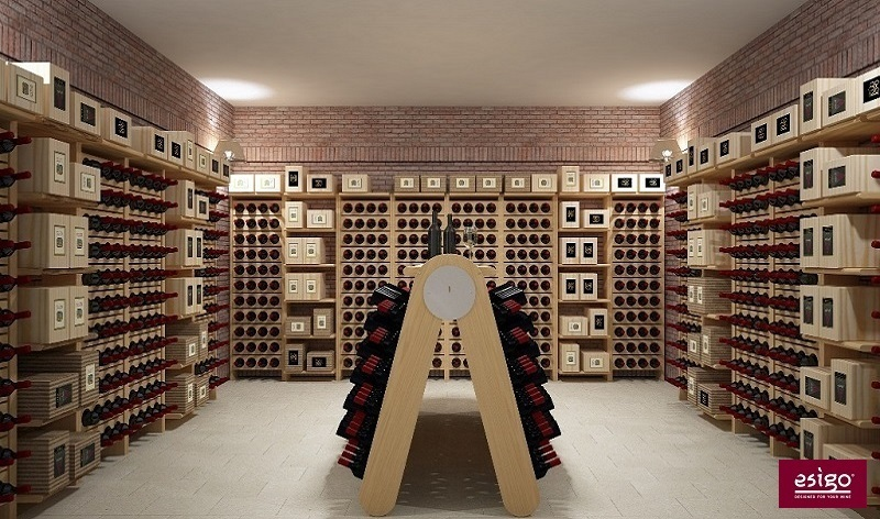 Esigo wine cellar racking system