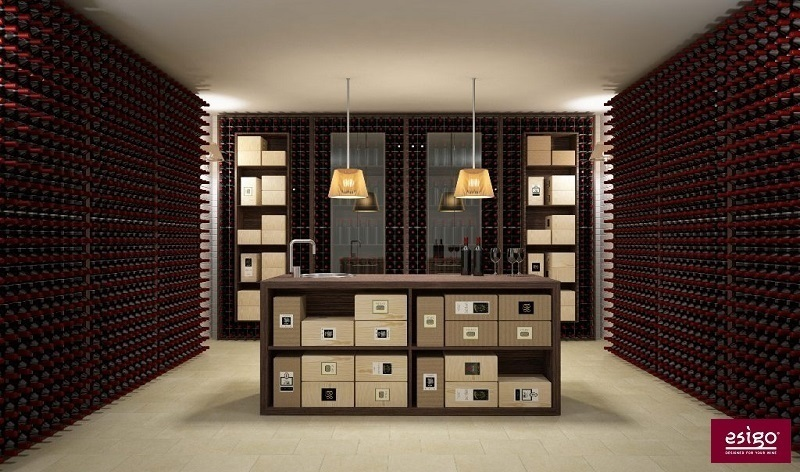 Esigo 2 Wall wine cellar furniture