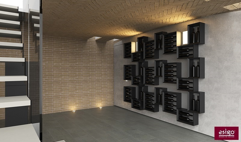 Wine cellar design furniture by Esigo