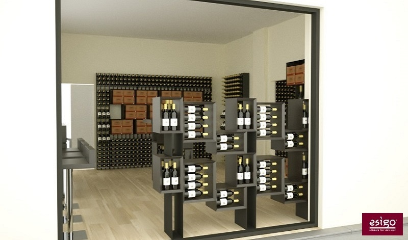 Esigo wine shop bottles storage racks