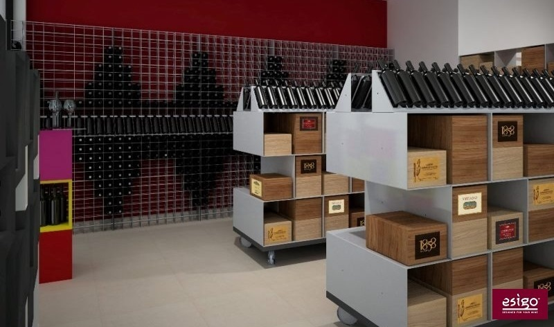 Wine shop furniture Esigo