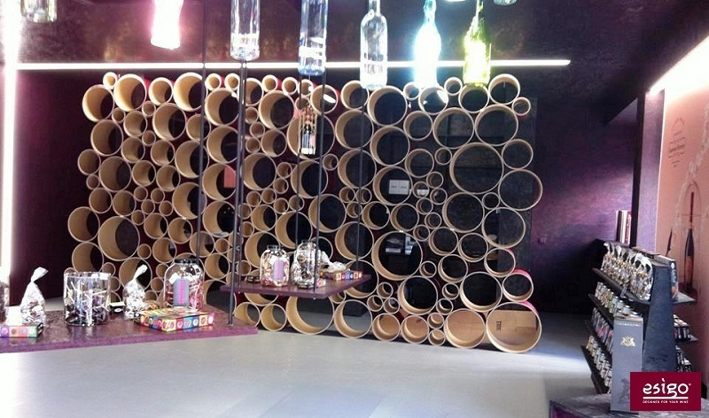 Wine shop with design wine rack Esigo 8