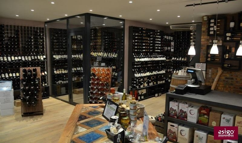 Esigo wine cabinets for design wine shops