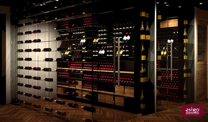 Esigo Wine room with air conditioning