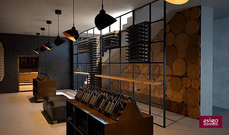 Wine room with Esigo 2 net and Esigo 2 box