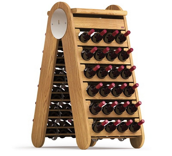 Esigo 3 Classic wooden wine rack