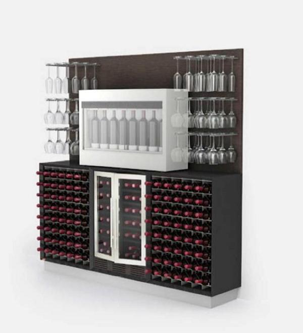 Esigo wine rack bar cabinets - Porta vini da parete ...