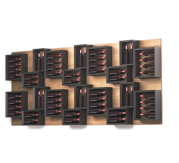 Esigo 5 Composition wooden wine rack