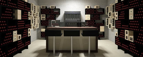 Box version modern wine cellar furniture
