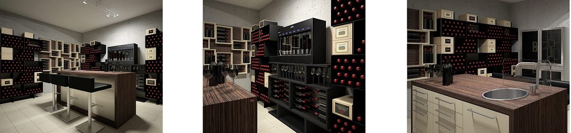 Box version wine cellar furniture