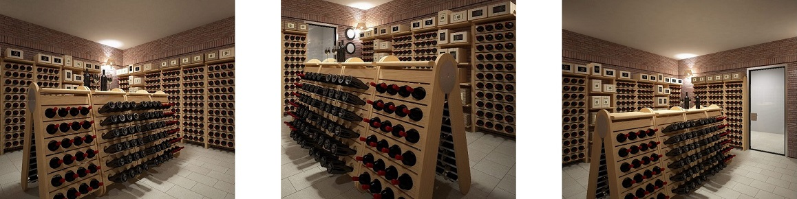 Custom wine cellar Version Classic Champagne